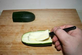 31 - Decore zucchini / Zucchini entkernen