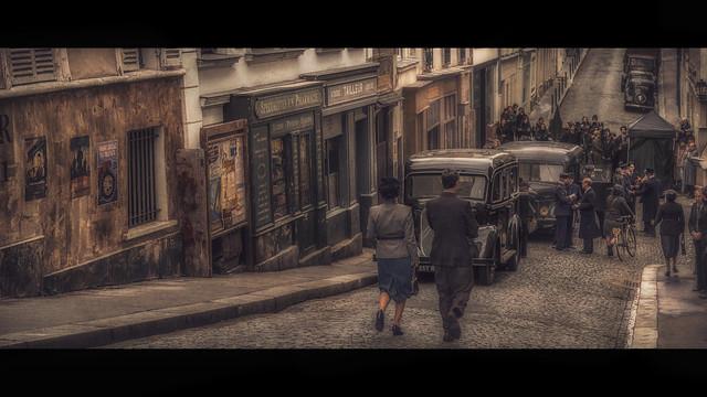 Montmartre 1942, filming Adieu Monsieur Haffmann