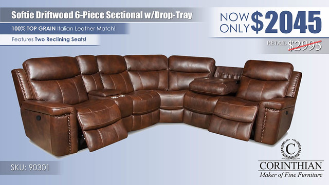 Softie Driftwood 6PC Sectional_90301_2021