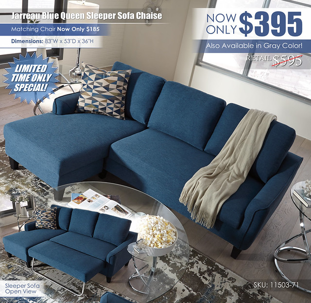 Jarreau Blue Queen Sleeper Sofa Chaise_11503-CLSD-MOOD-B_2021