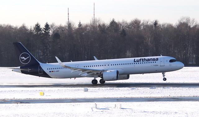 Lufthansa, D-AIEF,MSN 10010,Airbus A321-271NX, 30.01.2021,HAM-EDDH,Hamburg