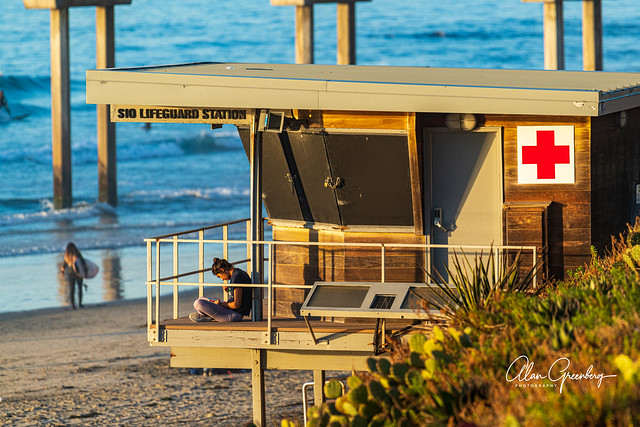 Reading at the Lifeguard Station