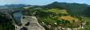 Panorama okolí hradu Strečno-P1140873pan-p