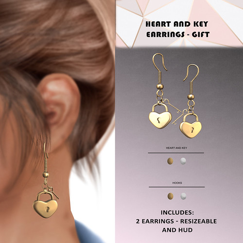 Heart and Key earring - free @ mainstore
