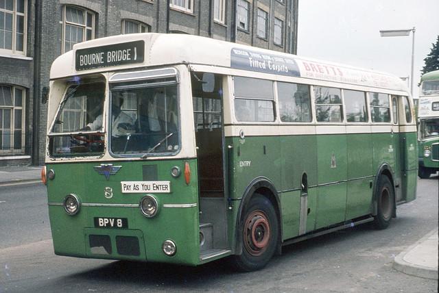 Ipswich Corporation . 8 BPV8 . Crown Street , Ipswich Suffolk .  August-1973 .