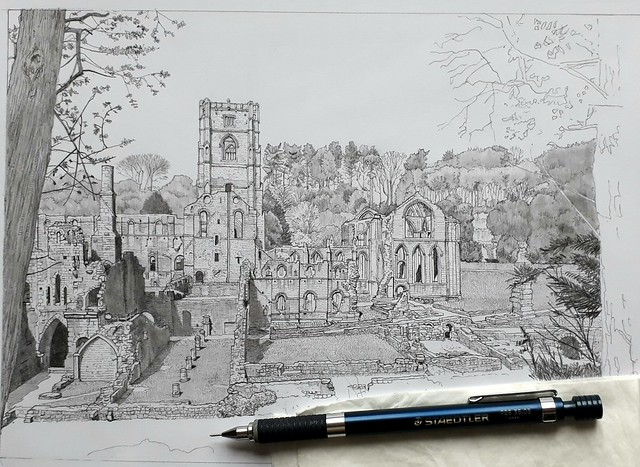 Fountains Abbey, Easter 2019 (WiP 5)