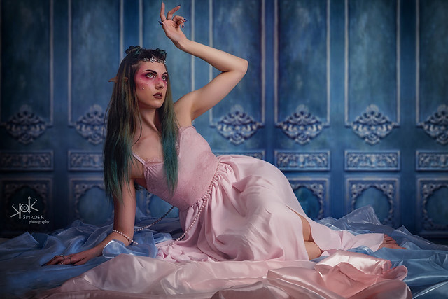 Ophelia Baudelaire as High Elf by SpirosK photography (4β: On the floor)