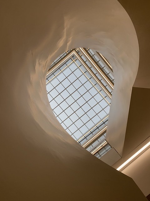 A Healing Atrium Architecture view through the stairs.