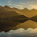 Sunrise over the Five Sisters of Kintail, Loch Duich, Scottish Highlands, Scotland, United Kingdom