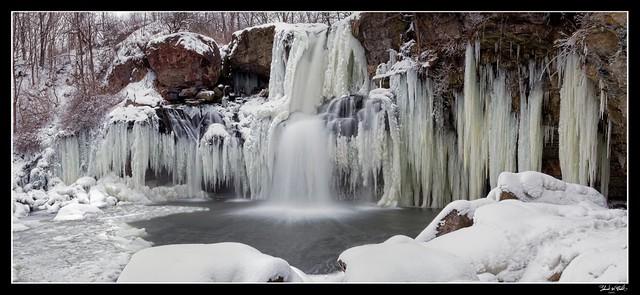 Akron Falls Frozen Pano (Explored)