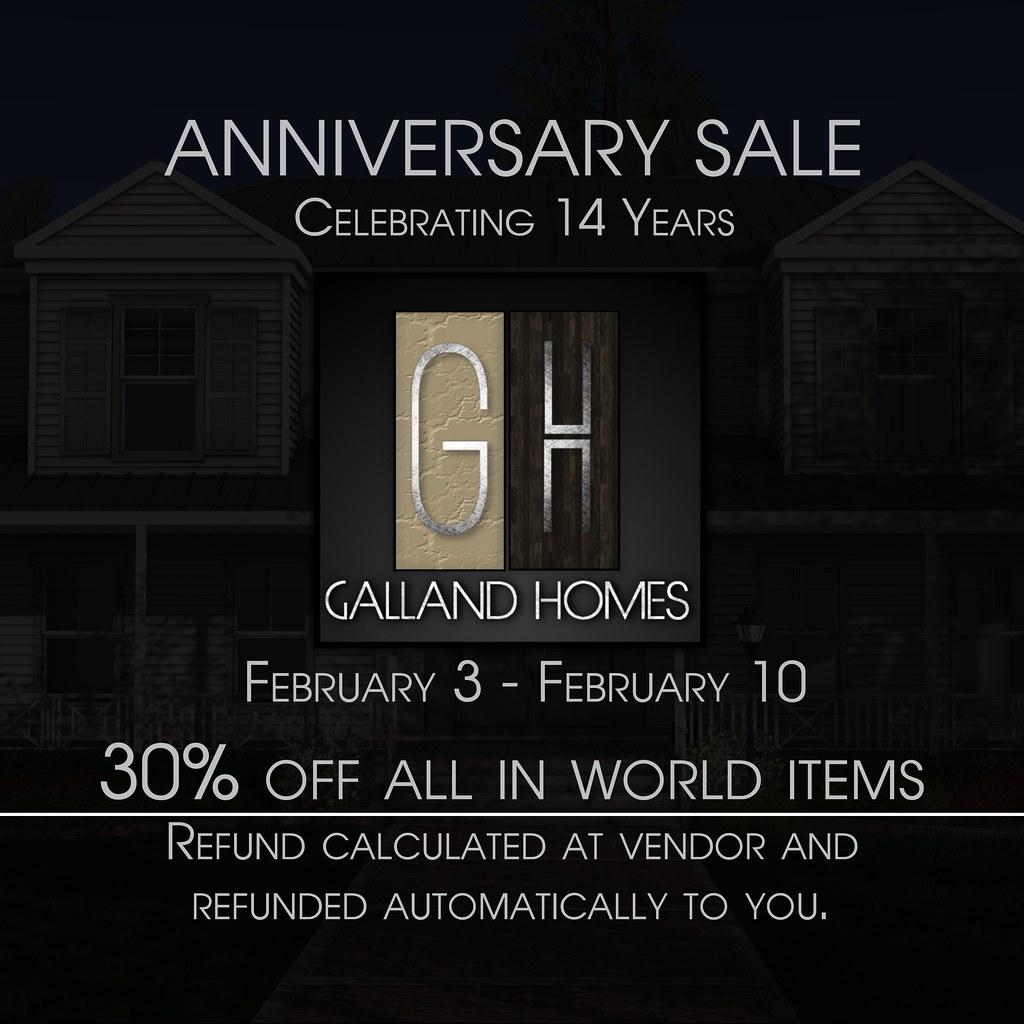 Anniversary sale @ Galland Homes