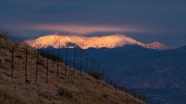 Last light on Truchas peaks