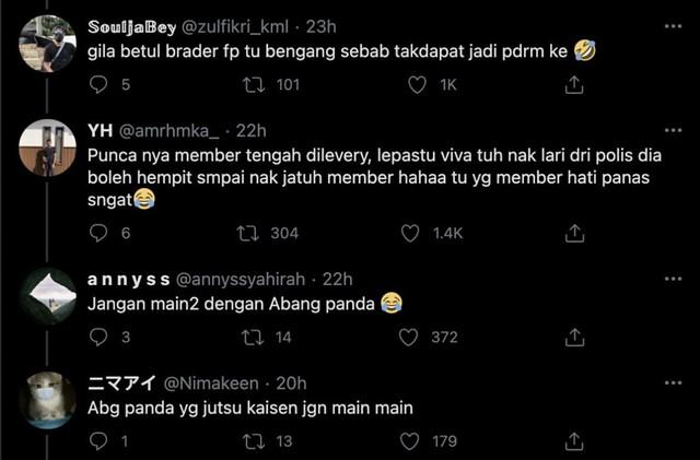 Netizen Puji Tindakan Berani Abang Rider 'Bantu' Tangkap Individu Dicari Polis Johor