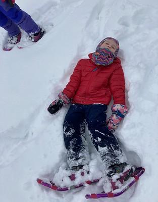 taking a snow nap