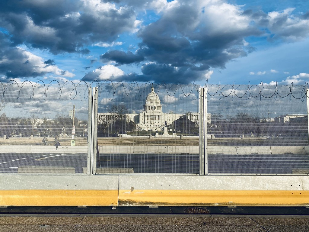 Capitol security fence at 3rd St NW