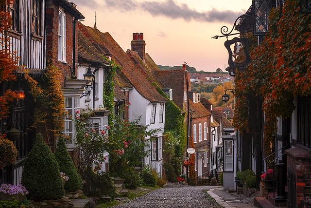 Cobbled Street, Mermaid Street, Rye, East Sussex, England