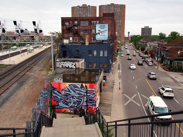 View from the bridge, Junction Triangle, Toronto.