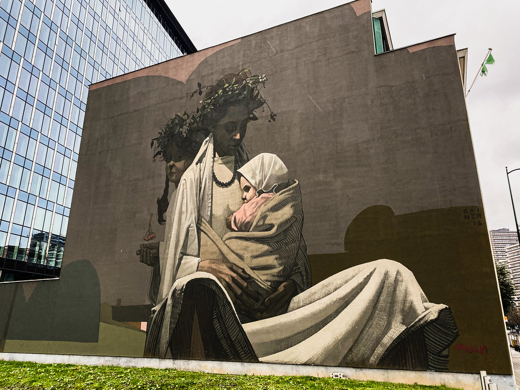 Mother by street artist Sainer