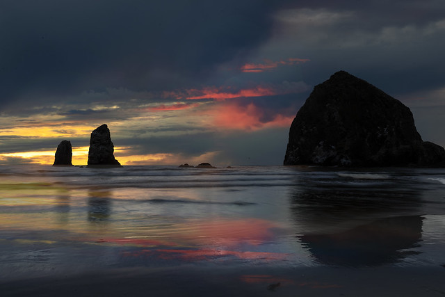 Sunset at Cannon Beach, Oregon