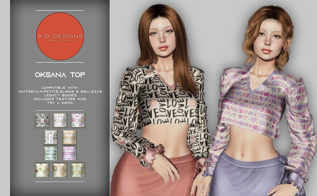KiB Designs – Oksana Top @Orsy Event 9th Feb.