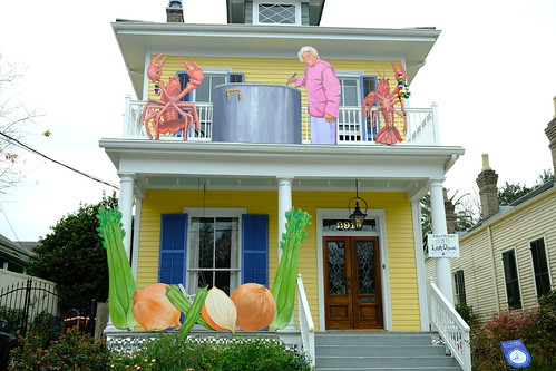 Leah Chase house - Krewe of House Floats 2021. Photo by Michele Goldfarb.