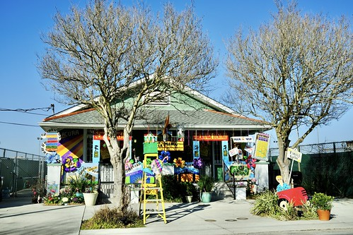 Jazz Fest house - Krewe of House Floats 2021. Photo by Michele Goldfarb.