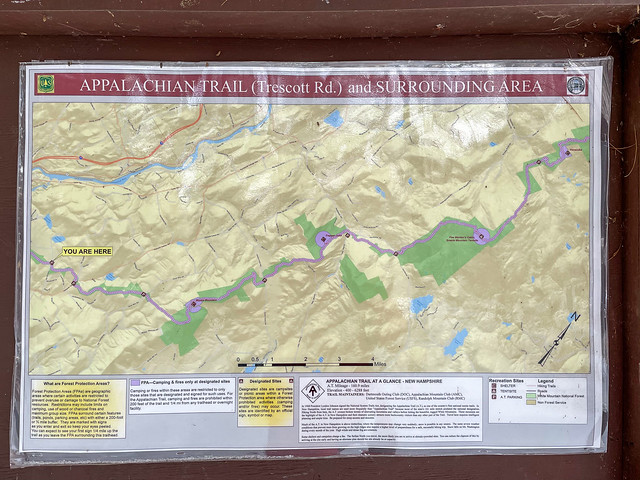 Appalachian Trail From Trescott Road: hiking newhampshire features appalachiantrail etna unitedstates