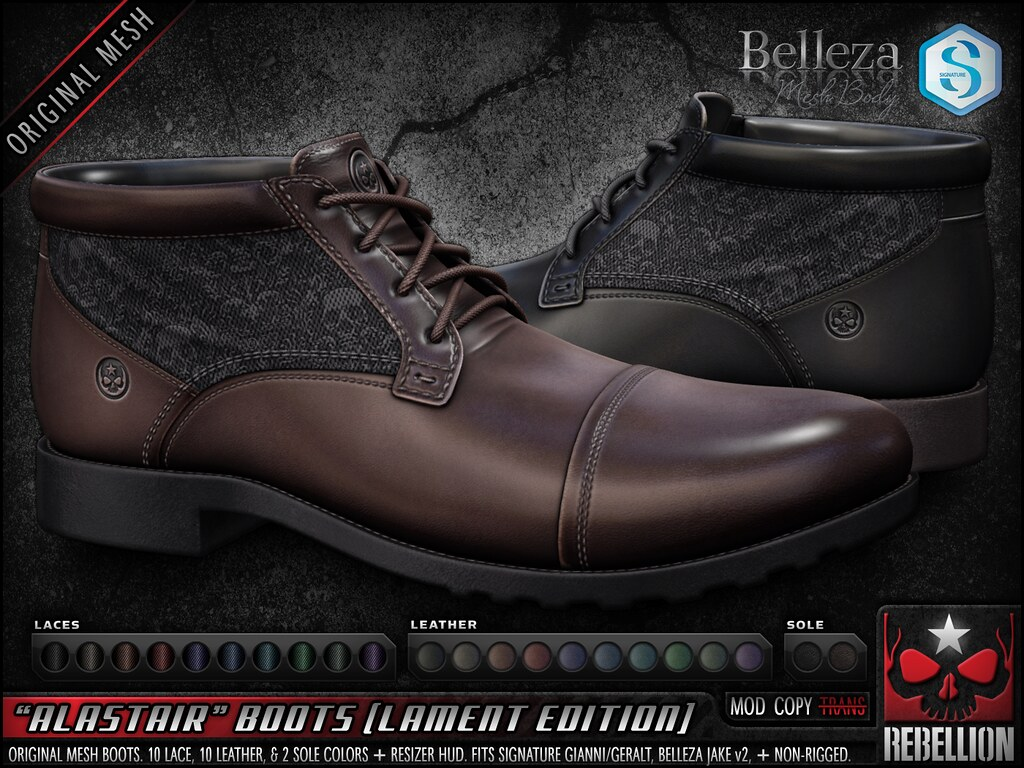 "= REBELLION = ""ALASTAIR"" BOOTS (LAMENT EDITION)"