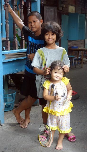 children in a gateway