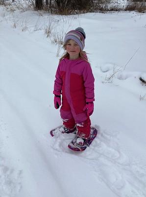 loving snowshoeing