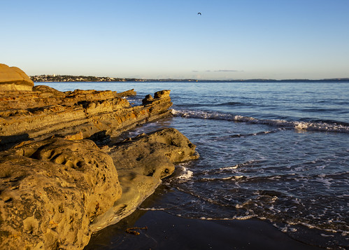 saintleonardsbay nz newzealand hauraki gulf belmont beach sunrise tide morning landscape waterscape northshore stone auckland