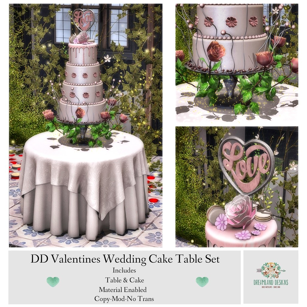DD Valentines Wedding Cake Table Set AD