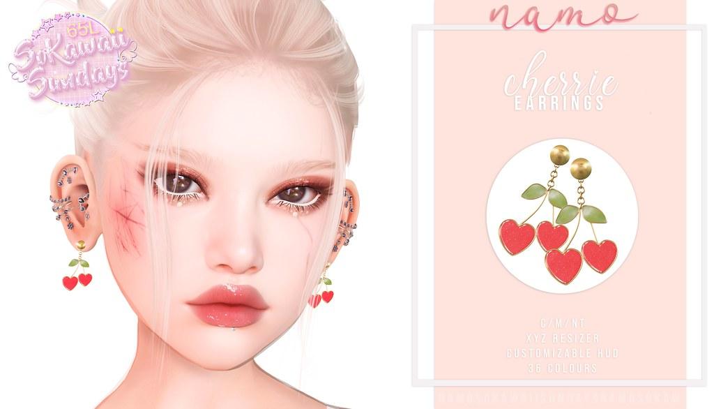 namo. cherrie earrings @SoKawaiiSundays