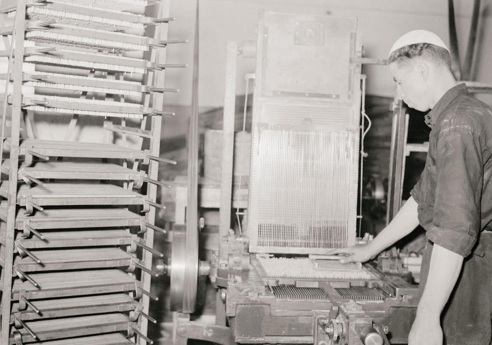 11. 1940. Шхем. Спичечная фабрика. Контроль качества
