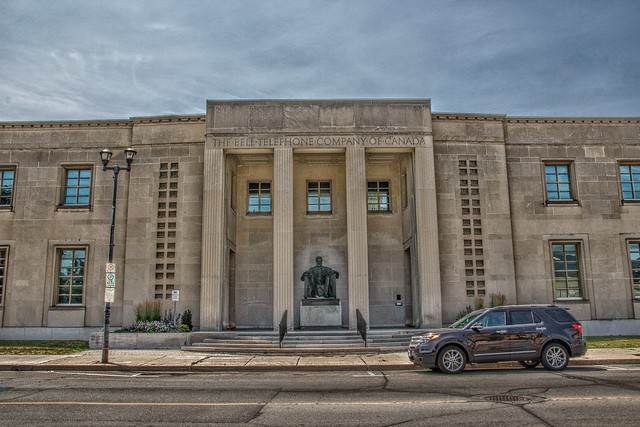 Brampton Ontario - Canada - Bell Telephone Company of Canada - Sitting Statue of Alexander Graham Bell