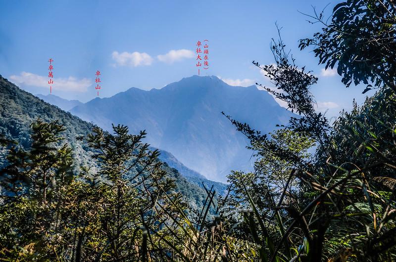 竹墓山山頂東北望卓社大山 2-1