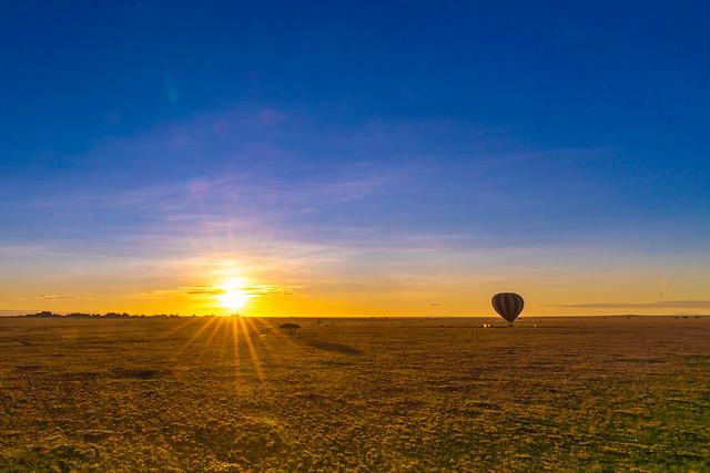 Serengeti Hot Air Balloon perspective .