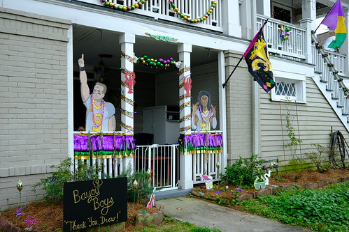 Brees/Saints Krewe of House Floats 2021. Photo by Michele Goldfarb.