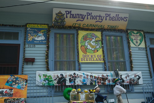 Phunny Phorty Phellows - Krewe of House Floats 2021. Photo by Michele Goldfarb.