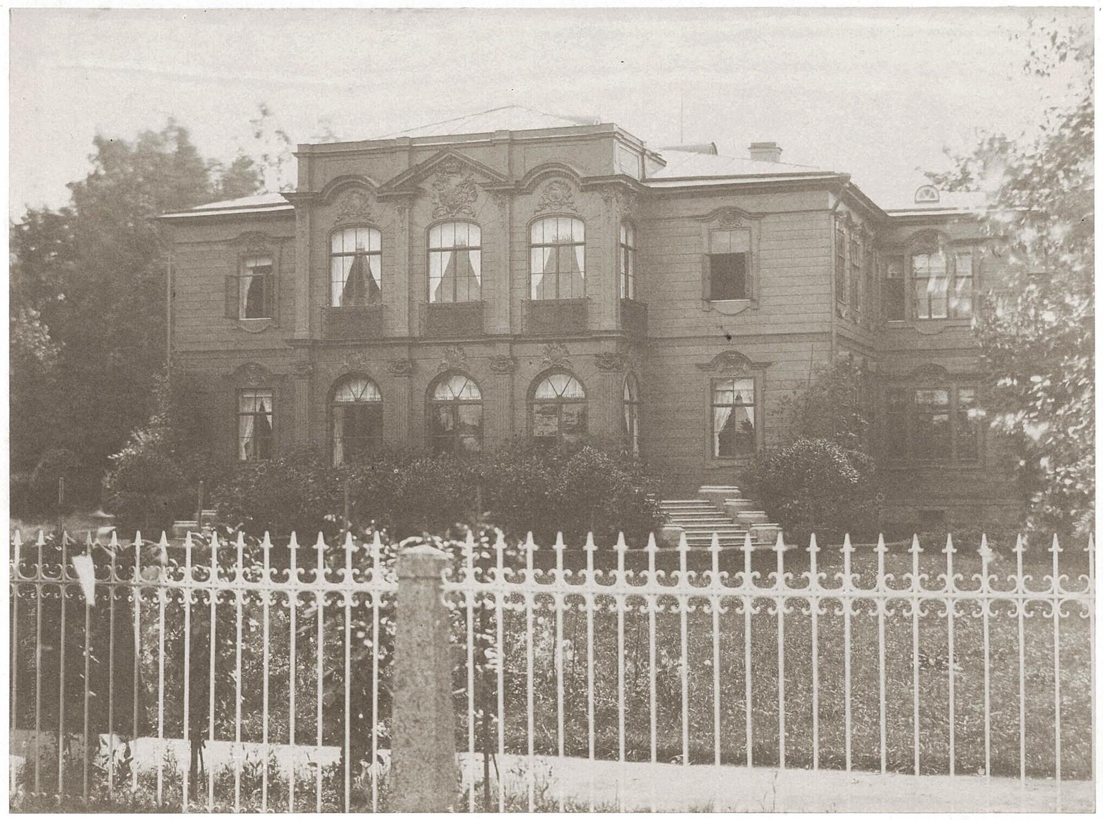 Усадебный дом графа С. С. Ланского. Главный фасад. 1853
