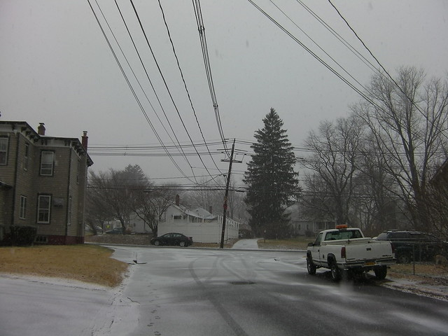 Snow in Garnerville NY Jan 2015