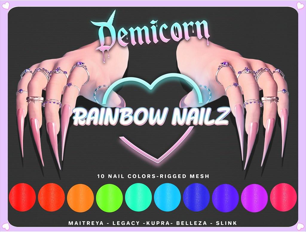 {Demicorn} Rainbow NAILZ AD