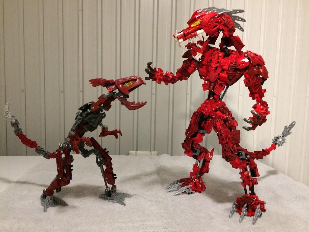 Bionicle red Dragon size comparison