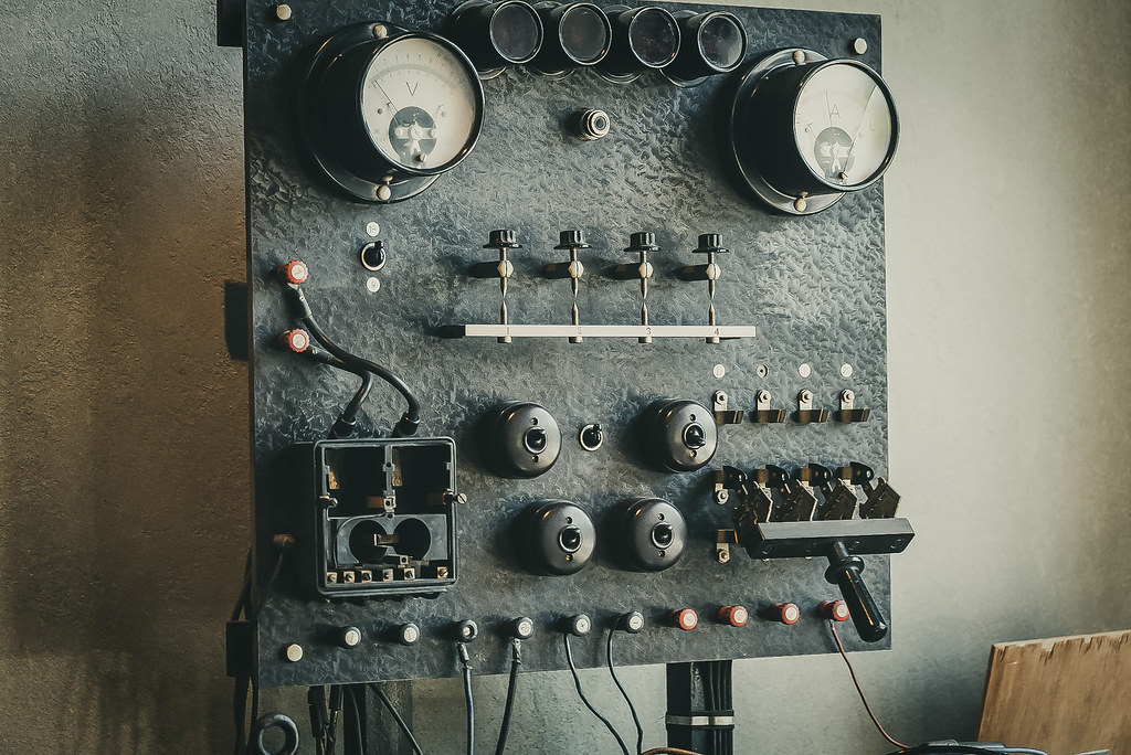 Old switchboard - Zwickau - Horch Museum - 0316