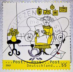great stamp Germany 55c (Post! mail! letter, Brief)) timbres Allemagne sellos Alemanha selos Alemania francobolli Germany postzegel 우표 독일 유럽  γραμματόσημα Γερμανία frimerker Tyskland markica Njemačka pullari Almanya スタンプ  ドイツの ヨーロッパ postzegels duitsland f