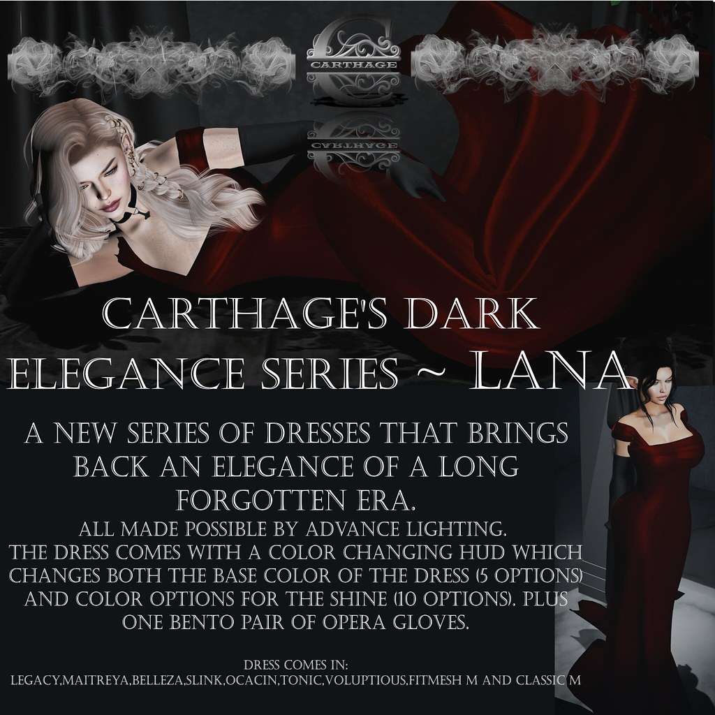 Carthage Dark Elegance series~ Lana