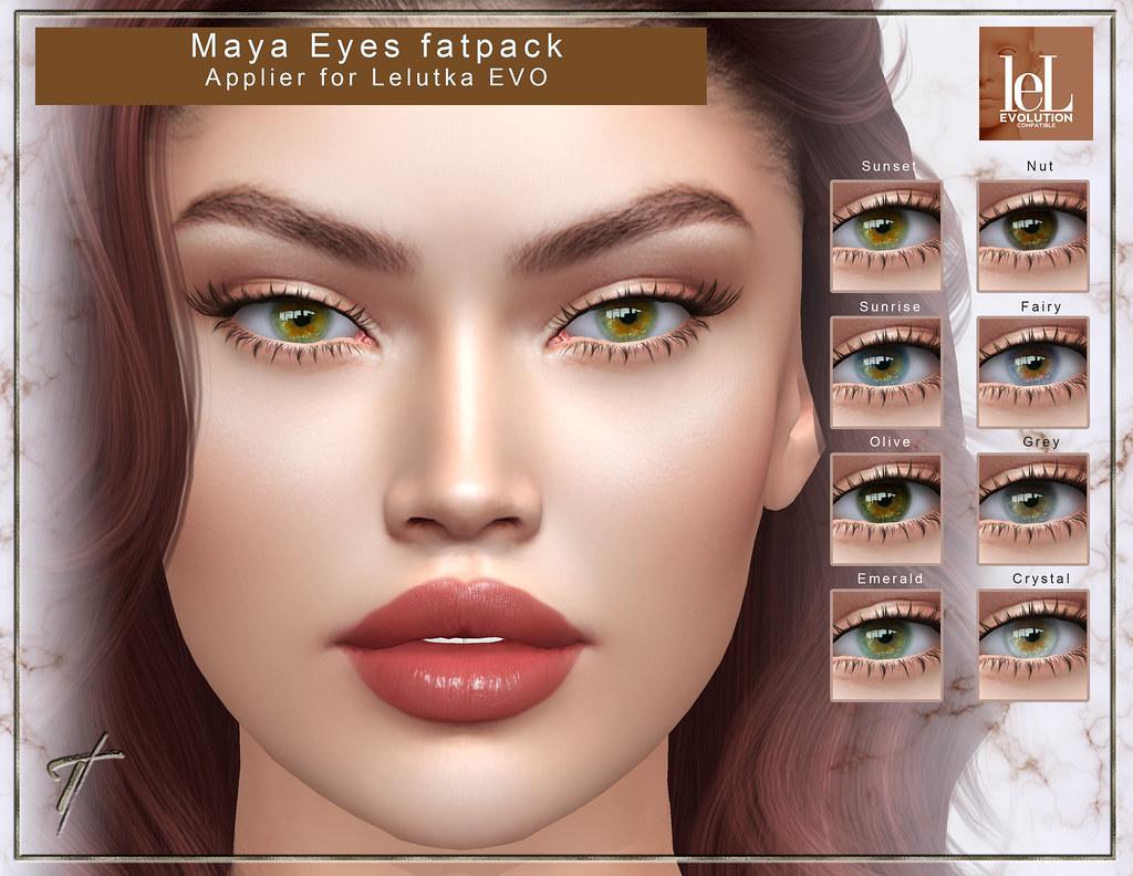 Tville – Maya Eyes Applier for Lelutka EVO