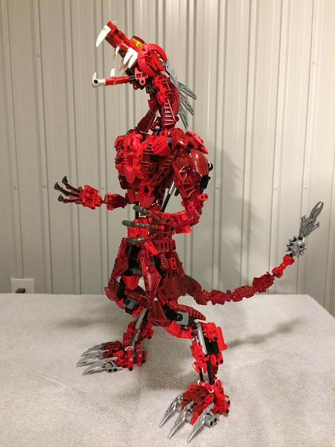 Bionicle red dragon