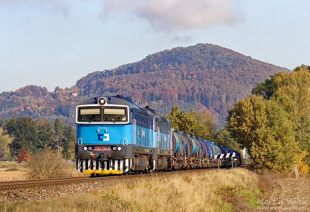 753.756 + 753.758 ČD Cargo, Velký Grunov - Pertoltice pod Ralskem (Czechia)