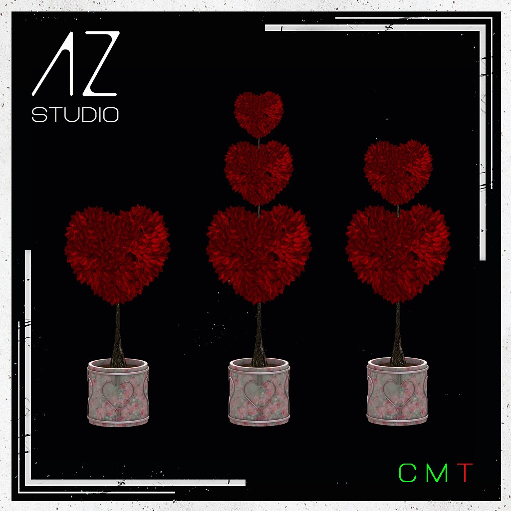[AZ] STUDIO at Swank event February 2021 New Exclusive Release. Heart Topiary Rouge Set part of my Celebrate LOVE collection.